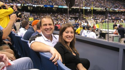 I need sports in my life.  I believe we all do to some extent, whether to cheer the team we love to victory or bond through the joy of competition.  - Just look at how the Saints were a strengthening force for New Orleanians after Hurricane Katrina. I attended the famous Saints-Falcons game when the Superdome reopened (pictured, circa 2006), and my father and I marveled at the relationship that only the Saints have with their city's people.