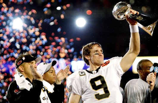 Now one thing is absolutely certain.  Brees and Payton together have taken the Saints places they'd never been before.  Brees ranks 1st all-time in NFL history in passing yards and completions, and 2nd only to Brady in touchdown passes.  (Getty Images photo) -
