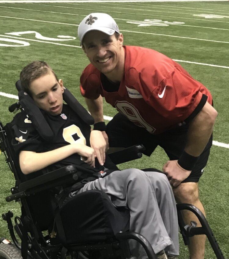 And you know what?  If the Saints fight like Luke this season, they might shock the experts and string together some unexpected wins. - I'll end with some of Drew Brees' words at Luke's funeral, where he called him the Saints' good luck charm.  You can see the whole video on Tim Siegel's Twitter account: